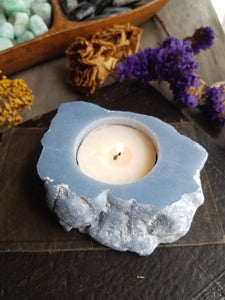 Angelite Candle Holder