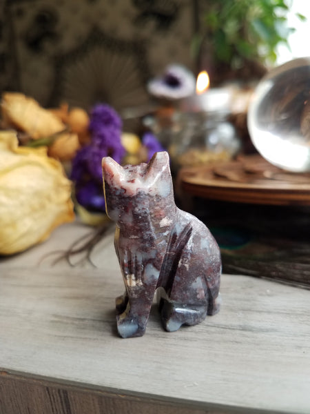 Soapstone Kitty Carving