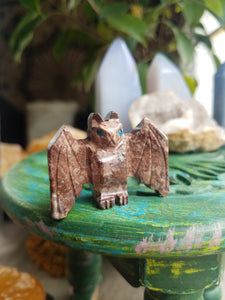Soapstone Bat Carving