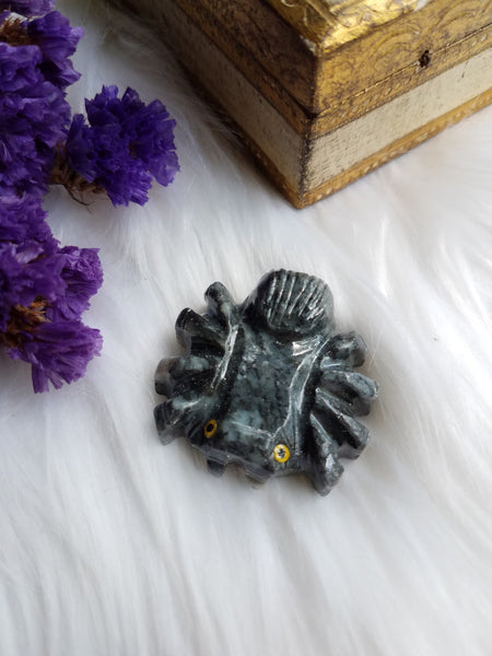 Soapstone Spider Carving