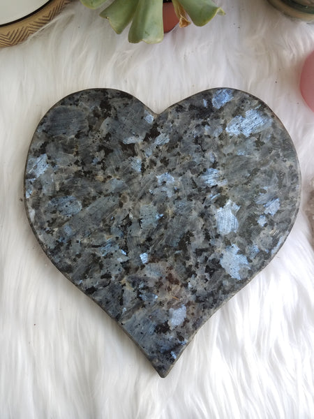 XL Larvikite Heart