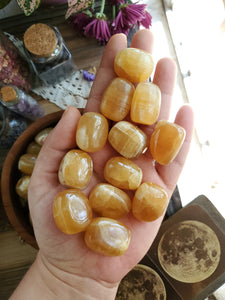Chunky Honey Calcite Tumbles