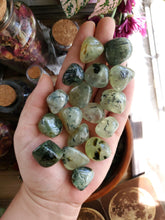 Load image into Gallery viewer, Prehnite with Epidote Tumbles