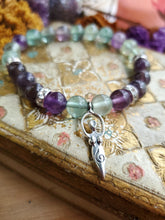 Load image into Gallery viewer, Rainbow Fluorite & Goddess Bracelet