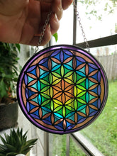 Load image into Gallery viewer, Rainbow Flower Of Life Sun Catcher