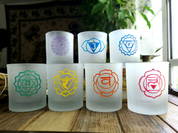 Seven Chakra Candle Holder Set