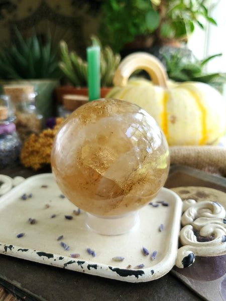 Genuine Citrine Sphere