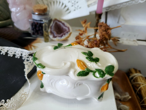 Whimsical Vintage Trinket Box