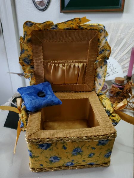 Dainty Yellow Floral Storage Box