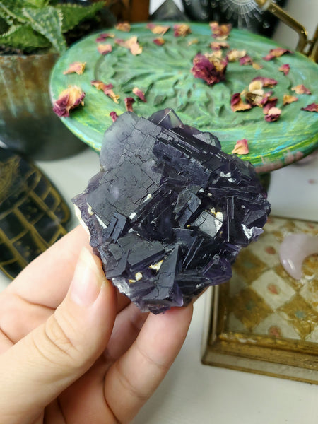 Color Change Cubic Fluorite Specimen