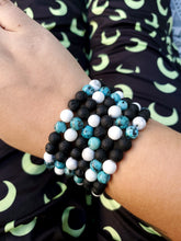 Load image into Gallery viewer, Howlite and Dyed Sesame Jasper Bracelet