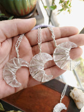 Load image into Gallery viewer, Clear Quartz Crescent Moon Necklace