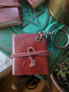 Triple Moon Blank Journal Key Chain