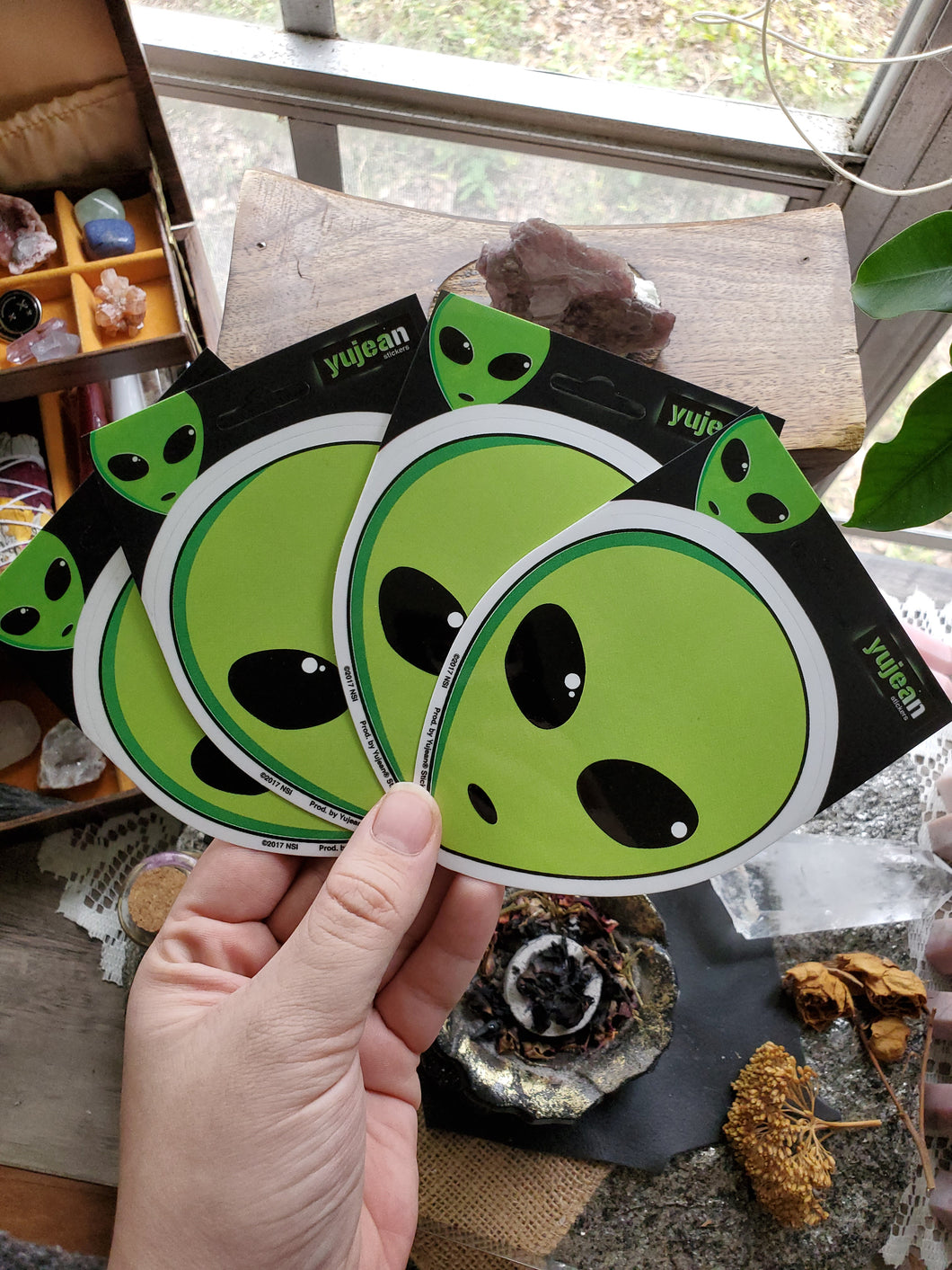Alien Friend Stickers