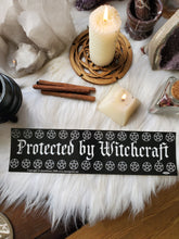 "Load image into Gallery viewer, ""Protected By Witchcraft"" Bumper Sticker"