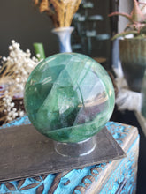 Load image into Gallery viewer, Green Fluorite Sphere - 61mm