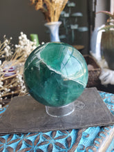 Load image into Gallery viewer, Green Fluorite Sphere - 63mm