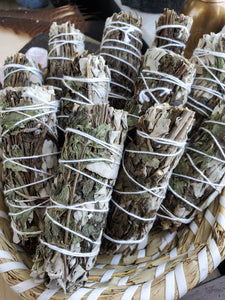 White Sage & Peppermint Wands - 4""