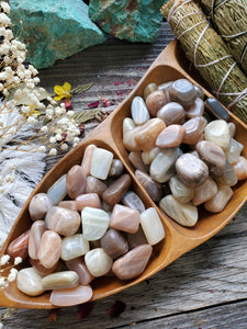 Multicolored Moonstone Tumbles