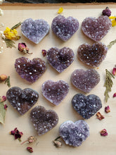 Load image into Gallery viewer, Druzy Amethyst Heart