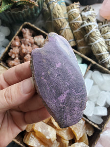 Semi Polished Stichtite with Serpentine