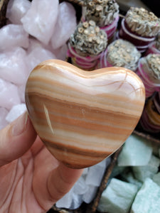 Polished Aragonite Heart