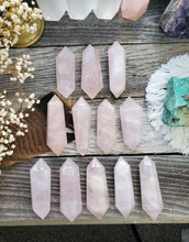 Load image into Gallery viewer, Double Terminated Rose Quartz Wands