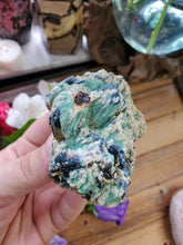 Load image into Gallery viewer, Blue Kyanite On Fuchsite Specimen