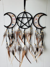 Load image into Gallery viewer, Triple Moon Goddess Dreamcatcher