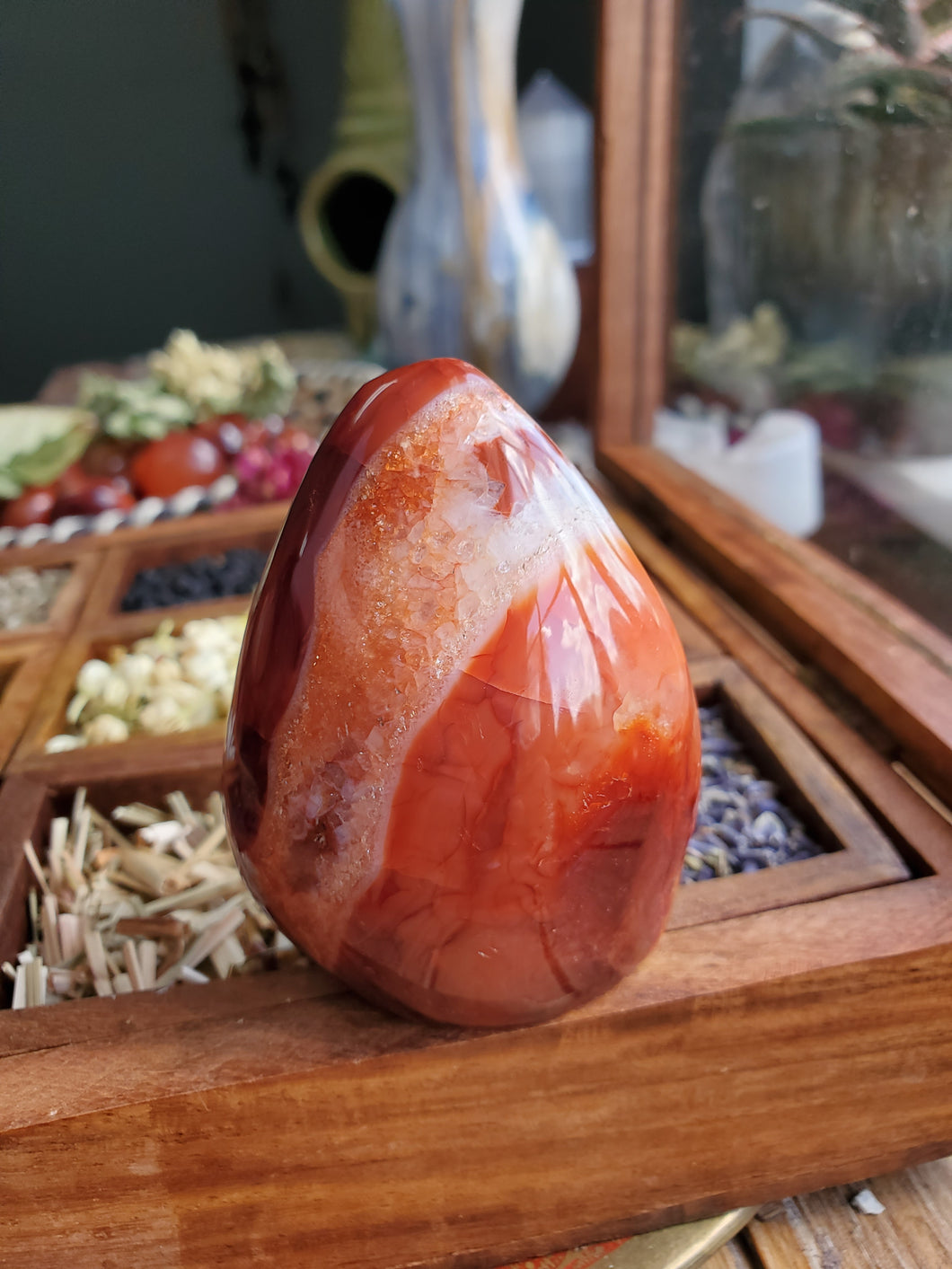 Polished Carnelian Agate Free form