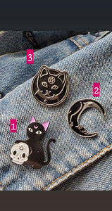 Magic Cat Enamel Pins