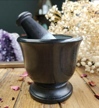 Load image into Gallery viewer, Lovely Little Black Mortar and Pestle