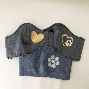 Navy Waffles Face Covers