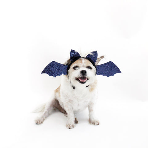 Image of Blue Glitter Bat Headband