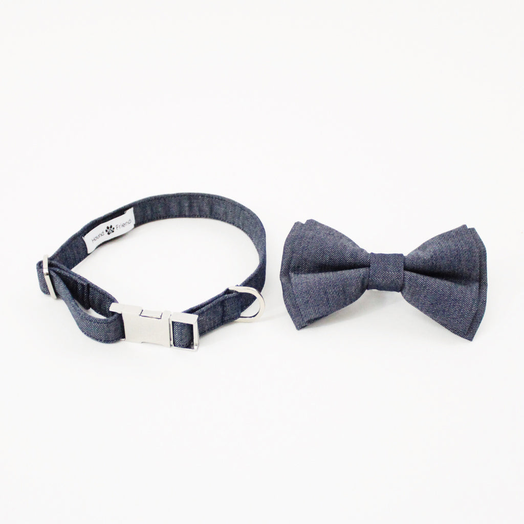 Olive Dog Bow Tie Collar