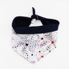Captain Reversible 4th of July stars dog Bandana matching with owners at Hound and Friends