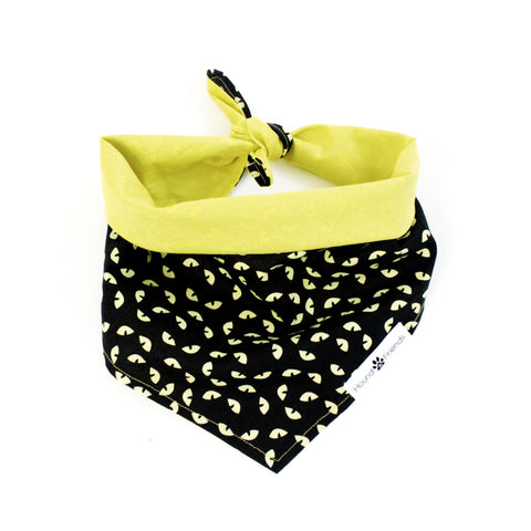 Image of Cat Eyes Reversible tie-on Bandana