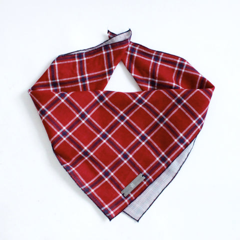 Dara Reversible Tie on Dog Square Bandana | Hound and Friends