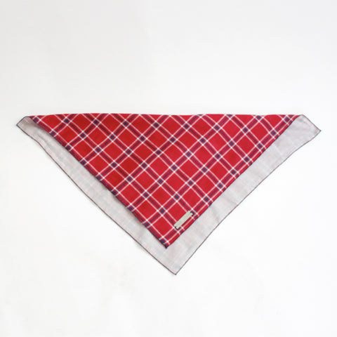 Image of Dara Reversible Tie on Dog Square Bandana | Hound and Friends