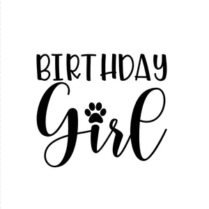 Birthday Girl Iron-Ons Decal Design