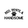 Red, White, and Handsome Iron-Ons Decal Design