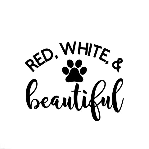 Red, White, and Beautiful Iron-Ons Decal Design