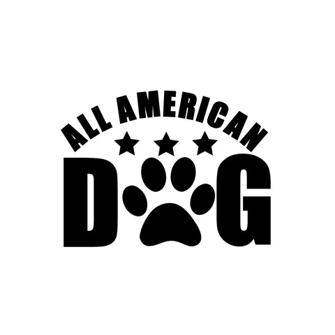 All American Dog Iron-Ons Decal Design