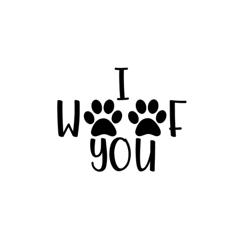 I Woof You Iron-Ons Decal Design