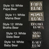 Iron-Ons: Styles 10-14 | Bear Collection