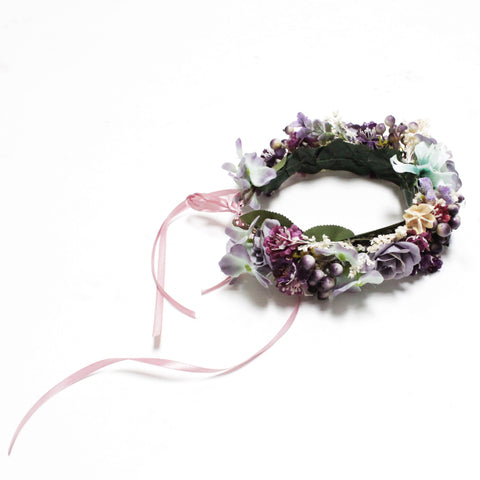 Image of Finn Flower Floral Crown for dogs and people to match at Hound and Friends