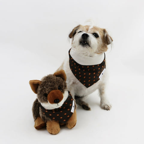 Image of Hogan Reversible Dog Bandana matching with owners | Hound and Friends