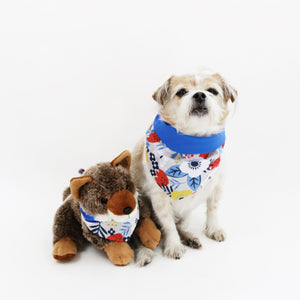 Jack Reversible Florals Dog Bandana matching with owners at Hound and Friends