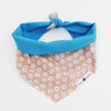Papi Reversible peach florals Dog Bandana matching with owners at Hound and Friends