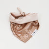 Pokey Pink Sequins Reversible Dog Bandana matching with their owner | Hound and Friends